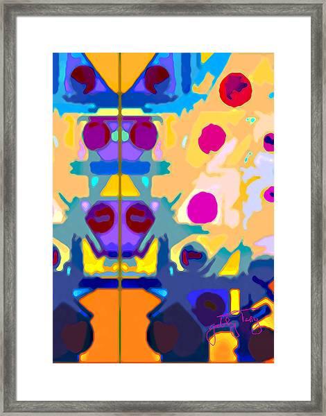 Wall Paper Framed Print
