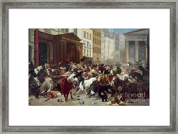 Wall Street: Bears & Bulls Framed Print