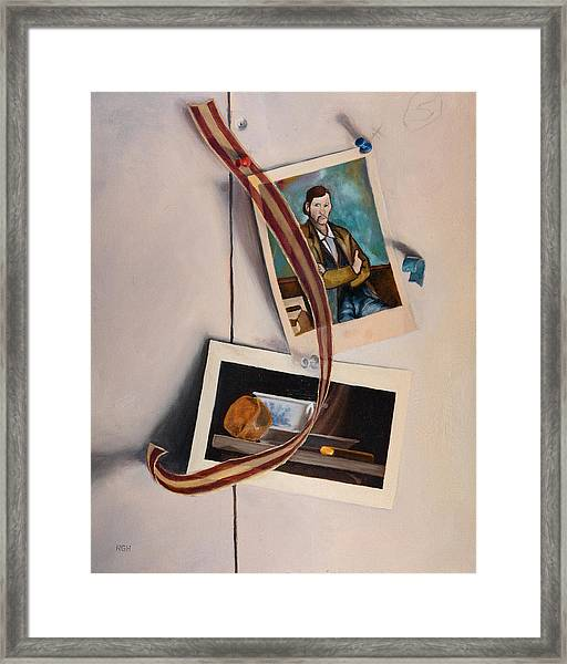 Framed Print featuring the painting Wall Study by Break The Silhouette
