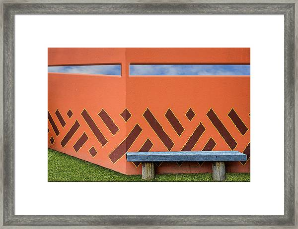 Wall With A View Framed Print
