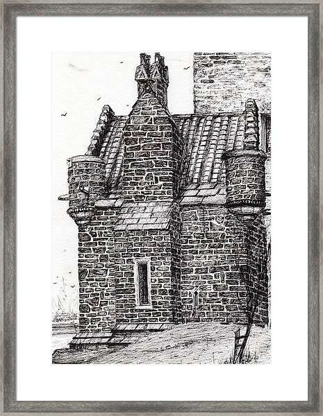 Wallace Monument  The Small House Framed Print