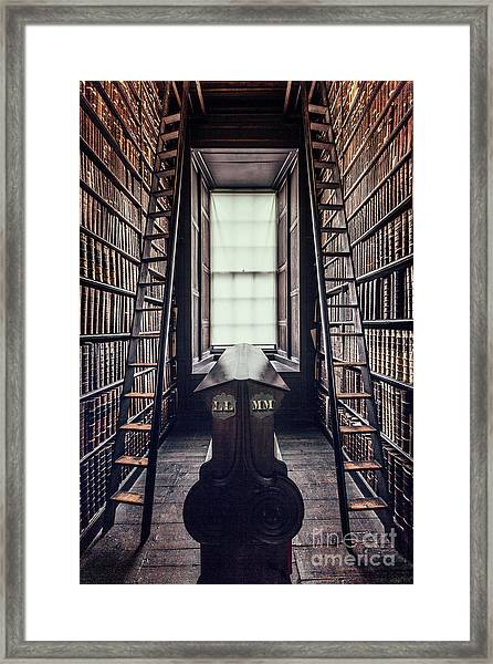 Walls Of Books Framed Print