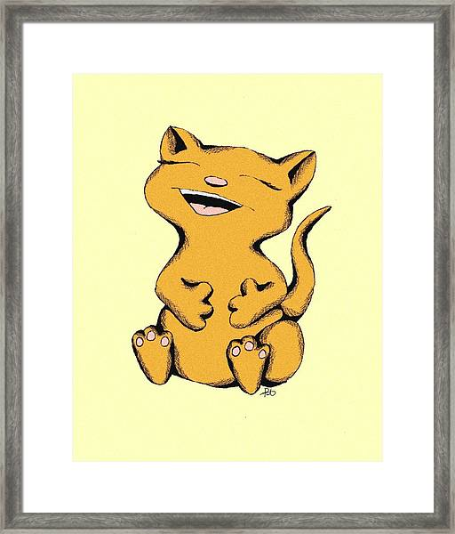 Wally Cat Laughing Framed Print