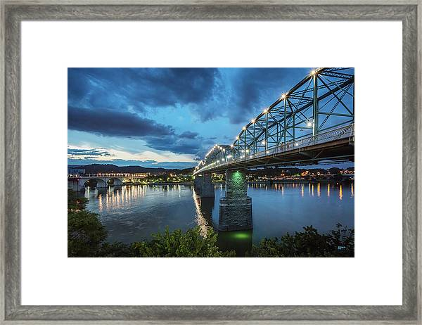 Walnut At Night Framed Print