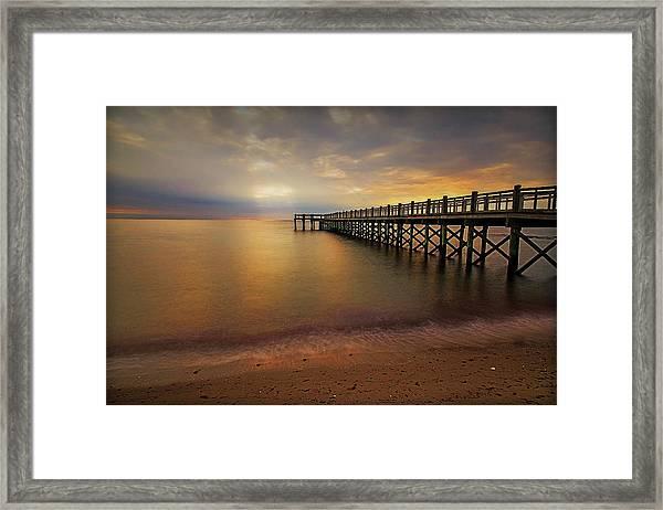 Walnut Beach Pier Framed Print