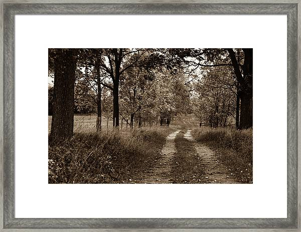 Walnut Lane Antiqued Framed Print