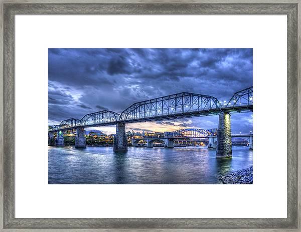 Walnut Street Pedestrian Bridge Chattanooga Tennessee Framed Print
