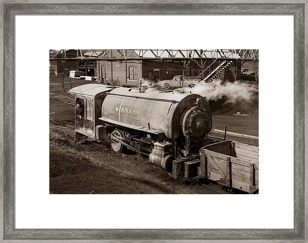 Wanamie Pennsylvania Coal Mine Locomotive Lokey 1969... Framed Print