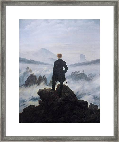 Wanderer Above The Sea Of Fog Framed Print