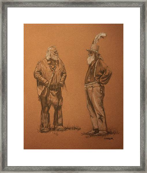 Wanna Buy A Hat? Framed Print