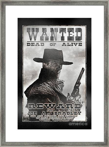 Wanted Poster Notorious Outlaw Framed Print