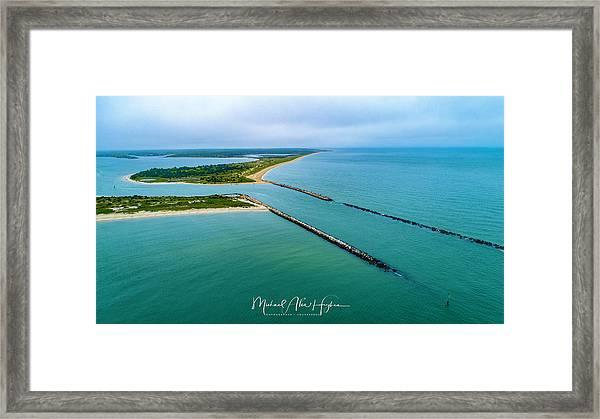 Waquiot Bay Breakwater Framed Print