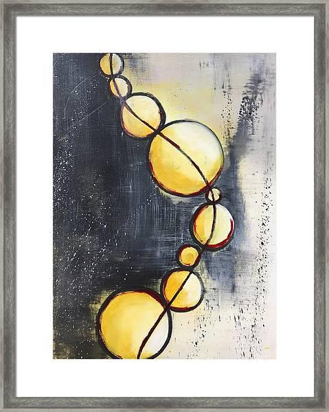 War Dark And Light Framed Print