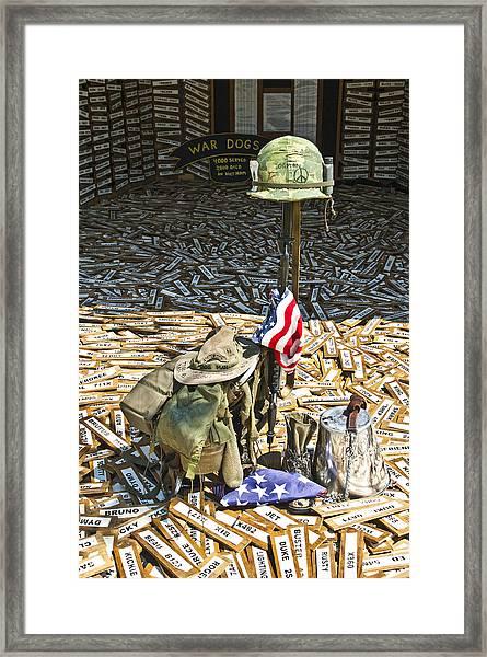 War Dogs Sacrifice Framed Print