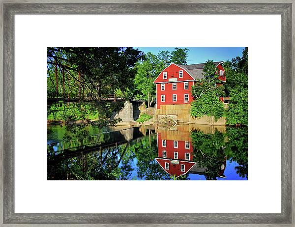 War Eagle Mill And Bridge - Arkansas Framed Print