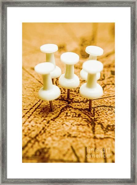War Game Tactics Framed Print
