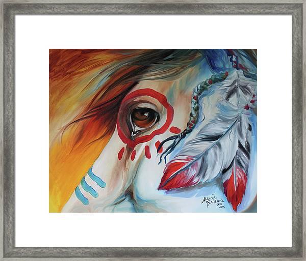 War Horse Spirit Eye Framed Print