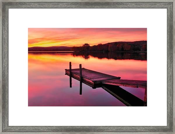 Waramaug Sunset Framed Print