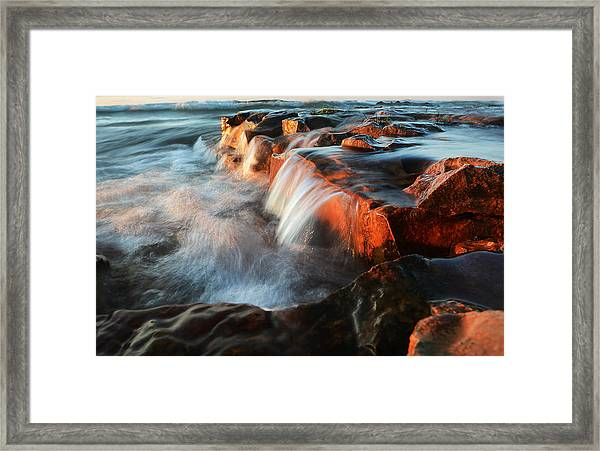Wards Beach Waterfall-2 Framed Print
