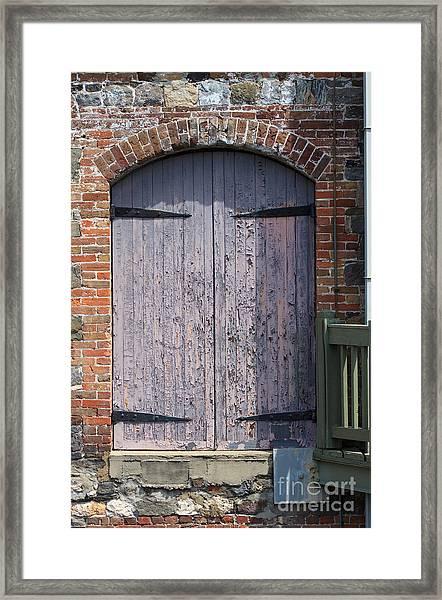 Warehouse Wooden Door Framed Print
