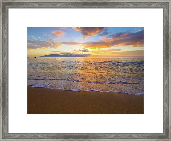 Warm Ka'anapali Sunset Framed Print