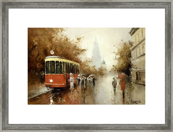 Warm Moscow Autumn Of 1953 Framed Print