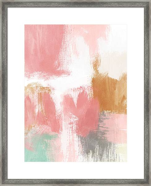 Warm Spring- Abstract Art By Linda Woods Framed Print