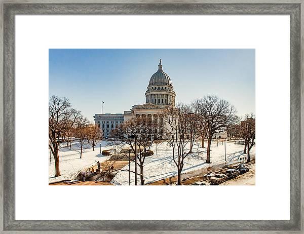 Warm Winter Capitol Framed Print
