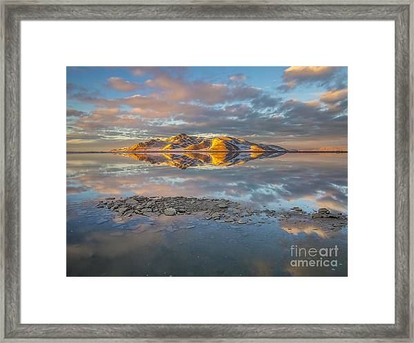 Warm Winter Sunset Framed Print