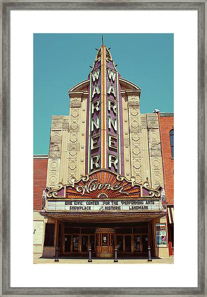 Warner Theatre, Erie, Pa Framed Print