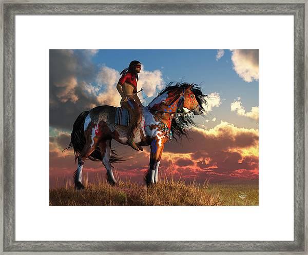 Warrior And War Horse Framed Print