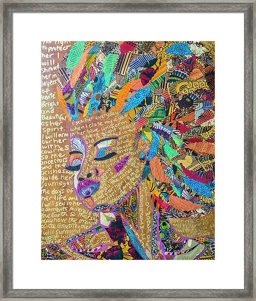 Warrior Woman Framed Print