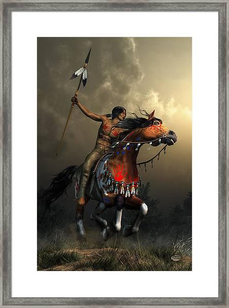 Warriors Of The Plains Framed Print