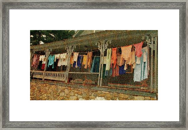 Washday Alton Nh Framed Print
