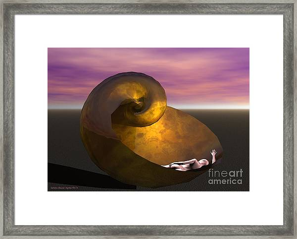 Framed Print featuring the digital art Washed Ashore by Sandra Bauser Digital Art