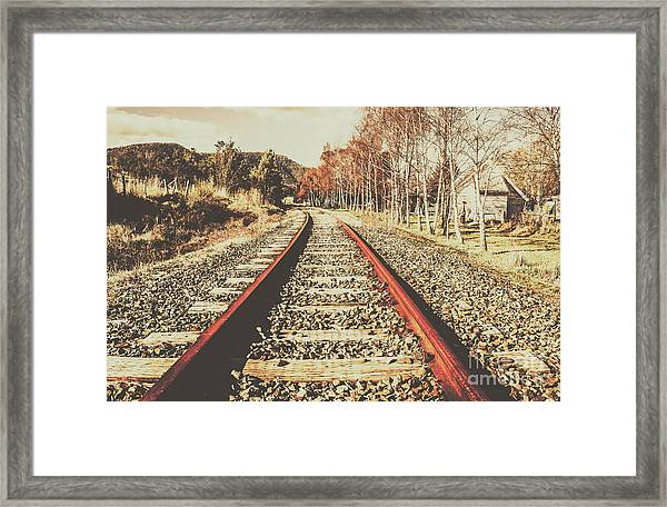 Washed Out Lines Framed Print