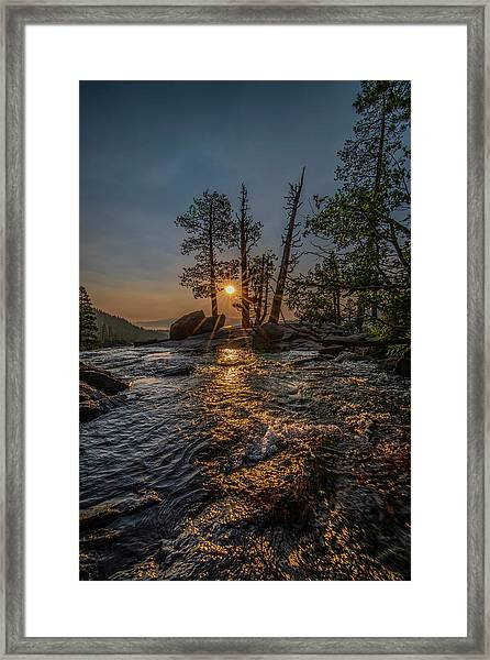 Washed With Golden Rays Framed Print