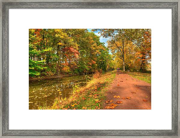 Framed Print featuring the photograph Washington Crossing Park by William Jobes