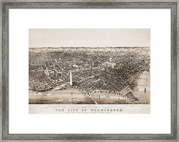 Washington D.c., 1892 Framed Print