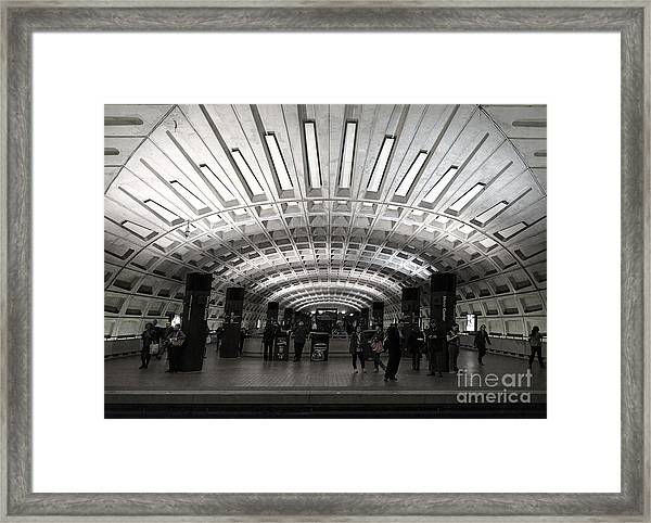 Washington Dc Metro Metro Center Stop Framed Print
