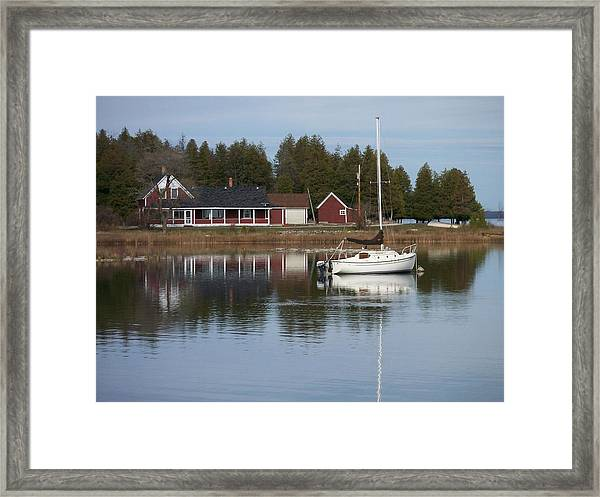 Washington Island Harbor 4 Framed Print