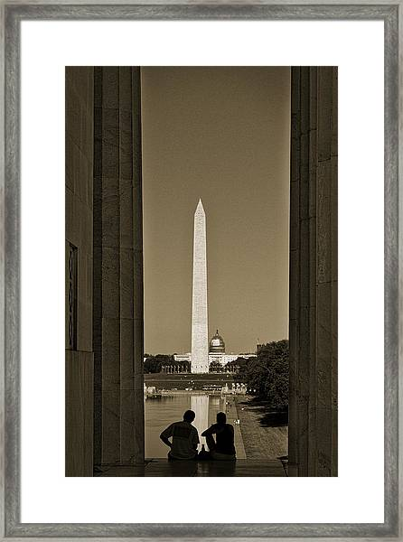 Washington Monument And Capitol #4 Framed Print