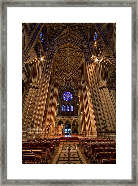 Washington National Cathedral Crossing Framed Print