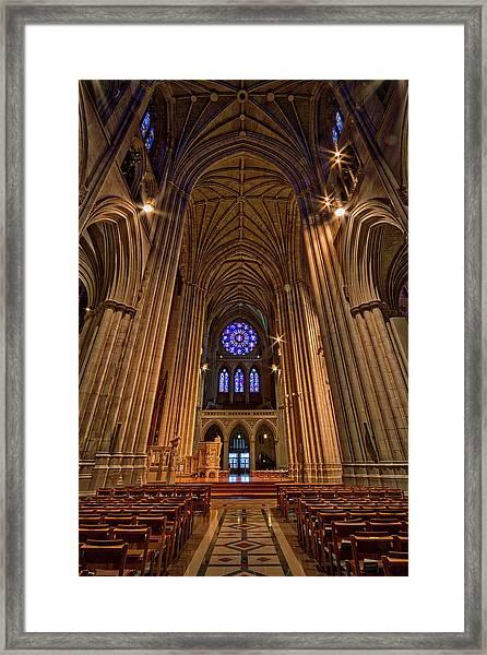 Washington National Cathedral Crossing Framed Print