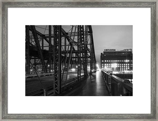 Washington Street Bridge Framed Print