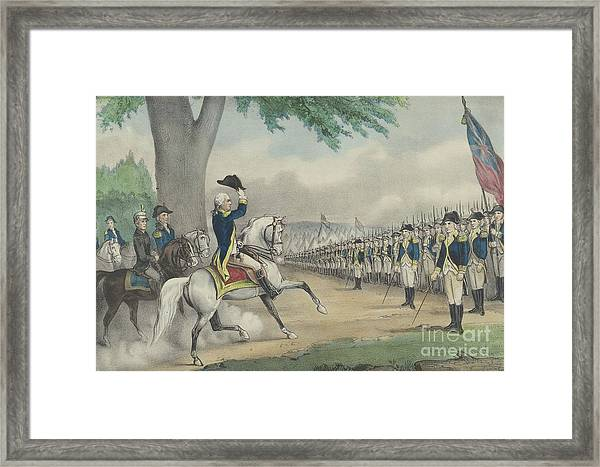 Washington Taking Command Of The American Army At Cambridge, Massachusetts On 3 July 1775 Framed Print