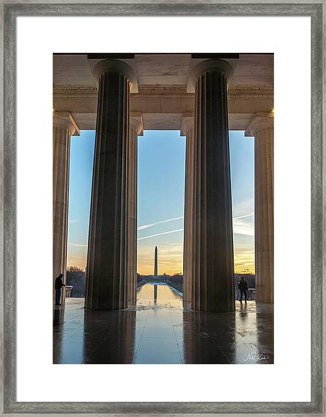 Washington Through Lincoln Framed Print