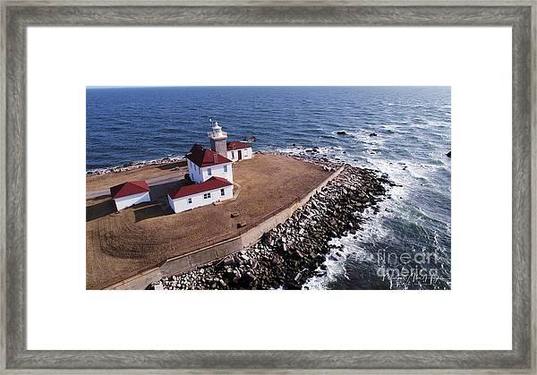 Watch Hill Lighhouse Framed Print