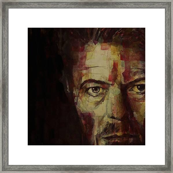 Watch That Man Bowie Framed Print