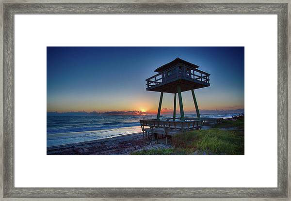 Watch Tower Sunrise 2 Framed Print